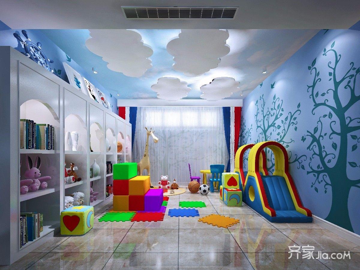 新古典风格四居儿童游乐室装修效果图