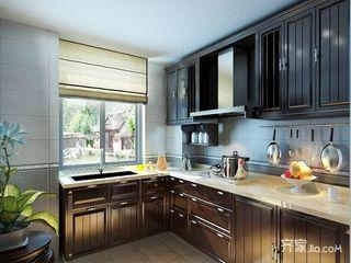 大户型中式风格别墅厨房装修效果图