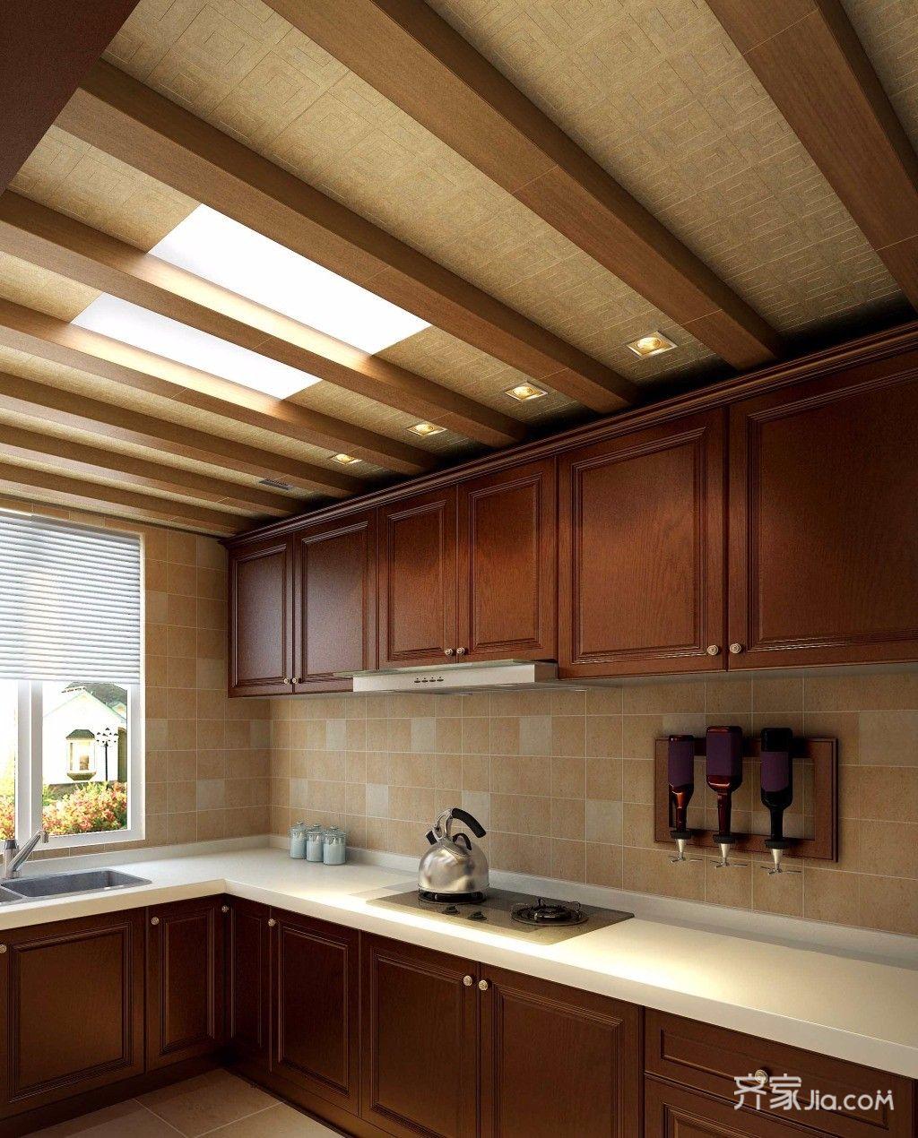 180平米欧式复式装修厨房效果图