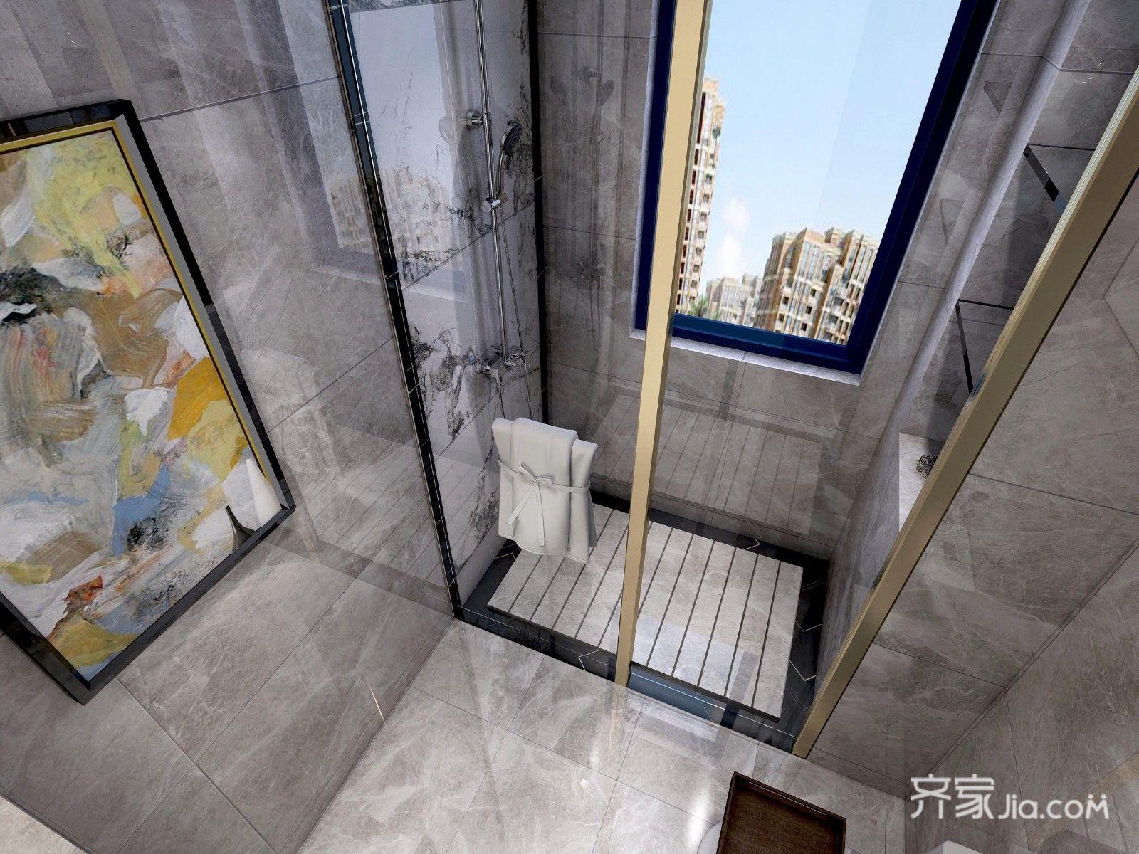 170平新中式三居卫生间装修效果图