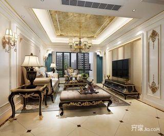 欧式豪华古典三居室装修效果图