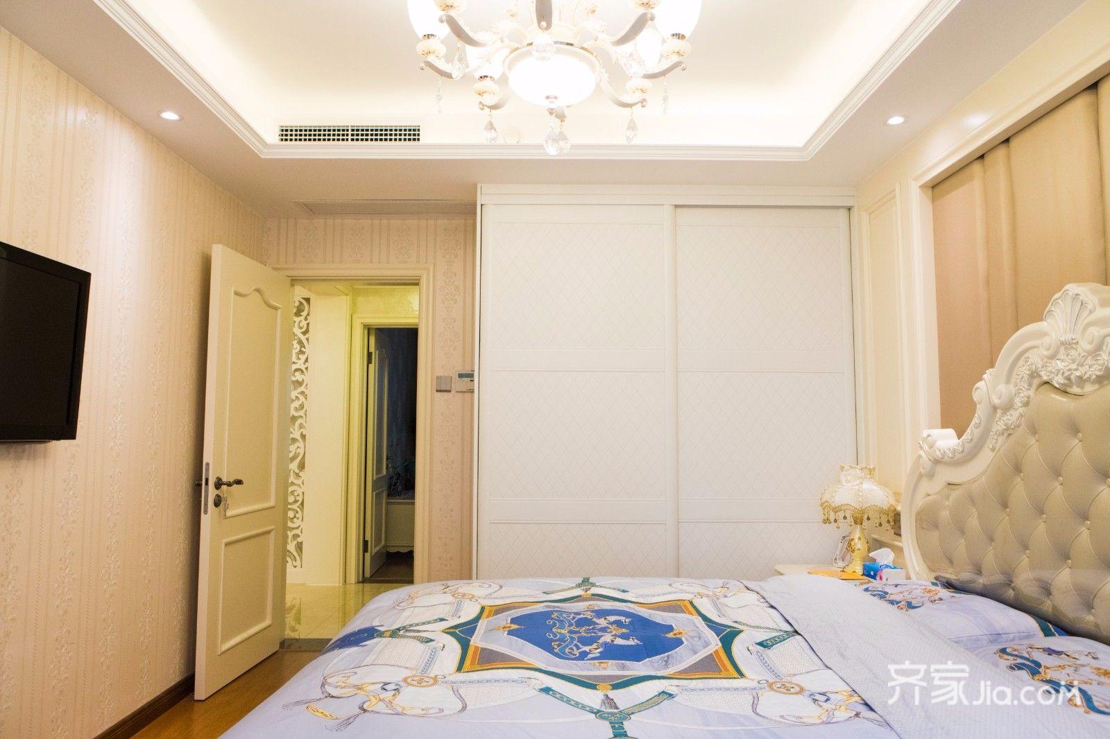 110平欧式风格三居装修衣柜设计图