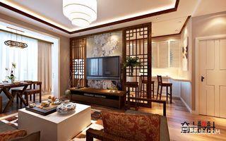 新中式风格二居室电视背景墙装修效果图