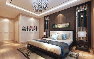 新中式风格二居卧室装修设计图