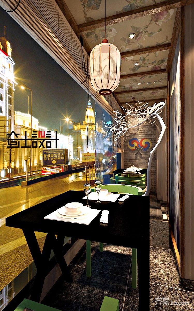 韩式风格餐厅装修效果图