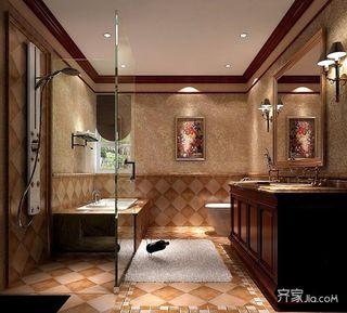 欧美风情别墅卫生间装修效果图