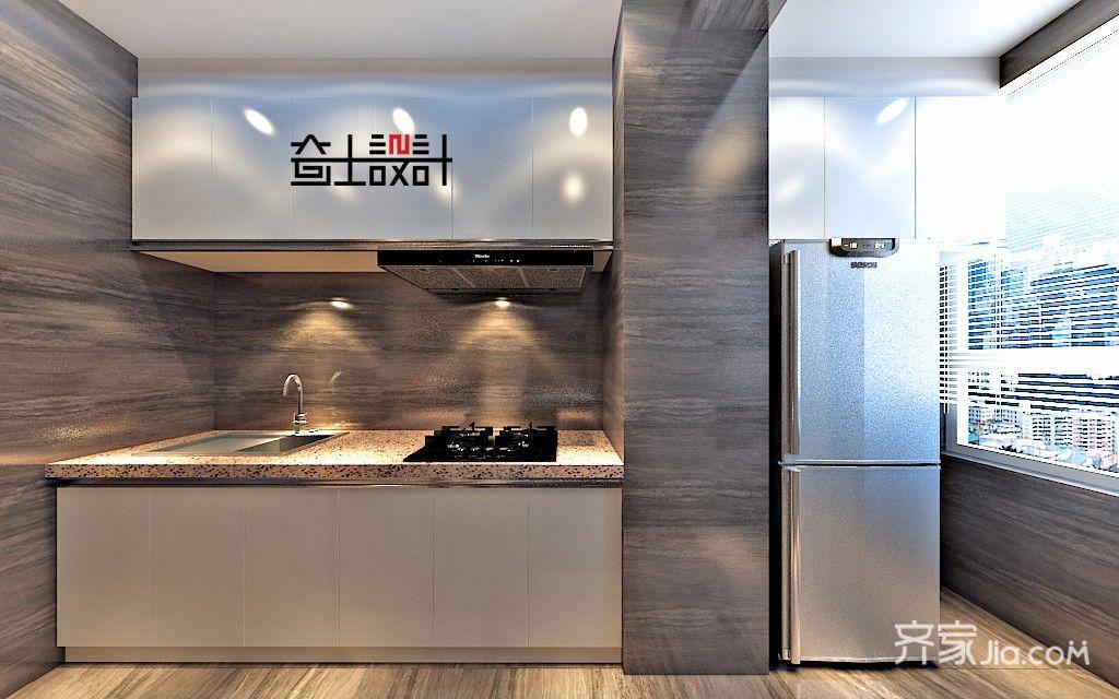 现代简约小户型厨房装修效果图