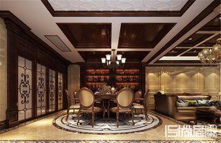 欧式大户型豪华别墅餐厅装修效果图