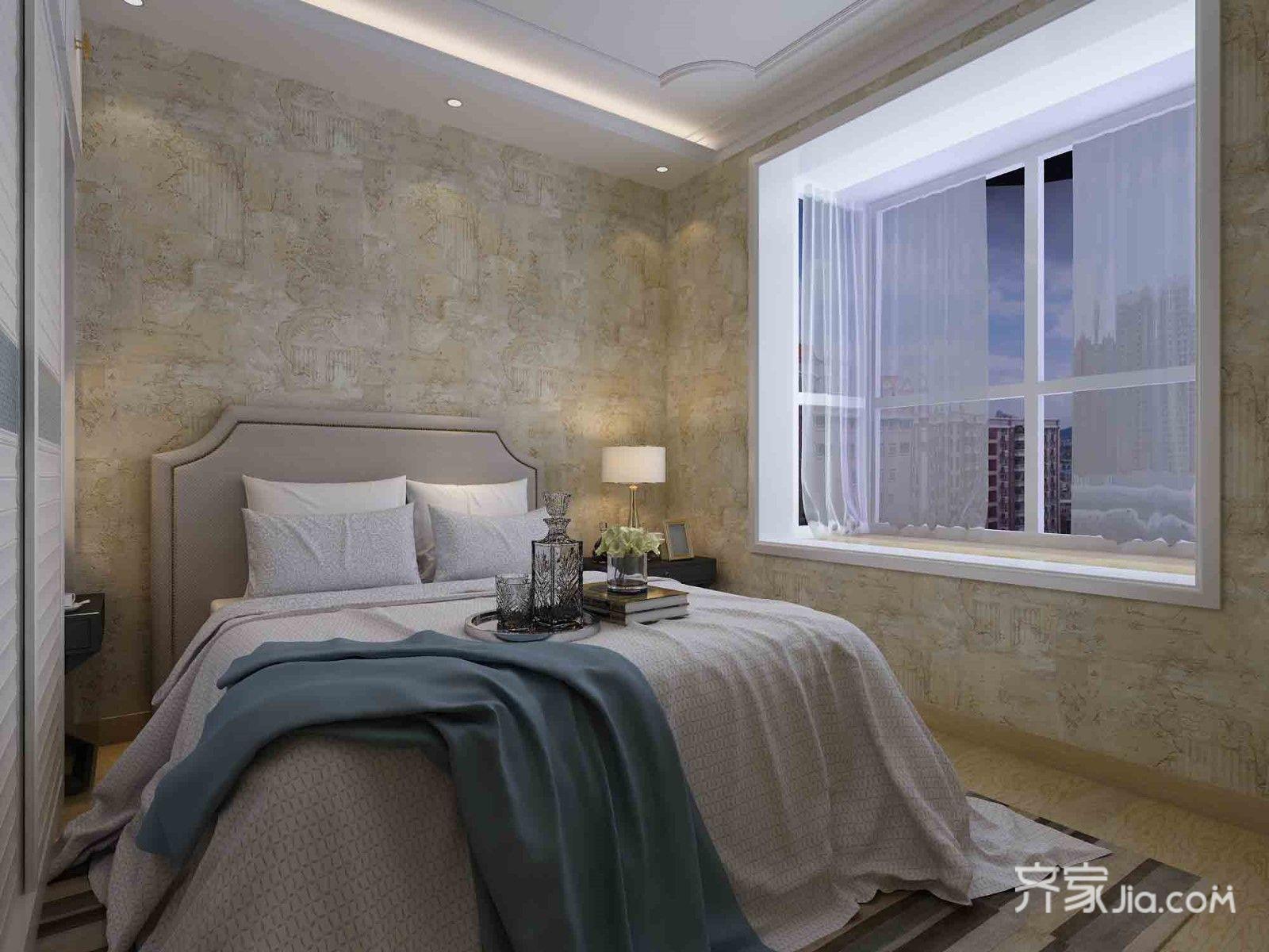 72平米美式风格二居装修效果图