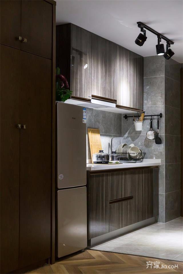 60平Loft一居室装修厨房设计图