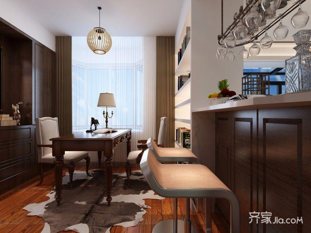 170平现代中式风格书房装修效果图