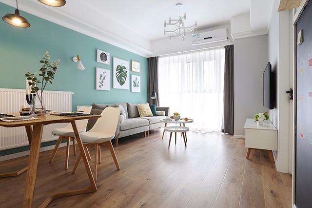 68方二居室北欧风室内装修设计