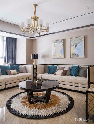 新中式三居客厅装修效果图
