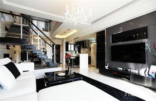 LOFT黑白调公寓装修设计效果图