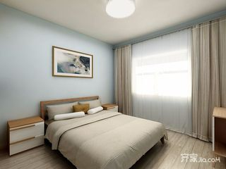 85平北欧风格两居卧室背景墙装修设计图