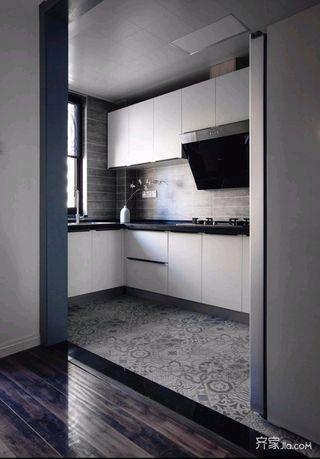 混搭风三居室装修厨房设计图