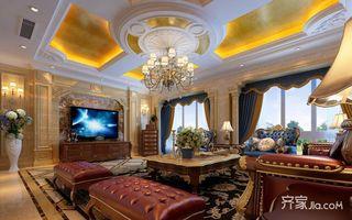 豪华欧式风格四居室客厅装修效果图