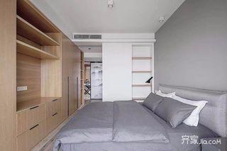 130平简约风格三居装修卧室搭配图