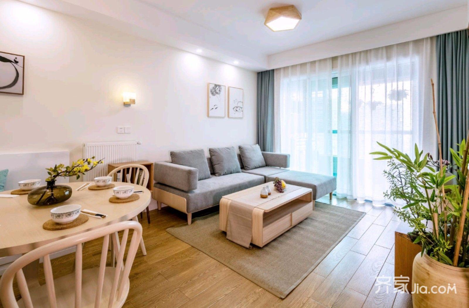 日式风格二居室装修设计效果图