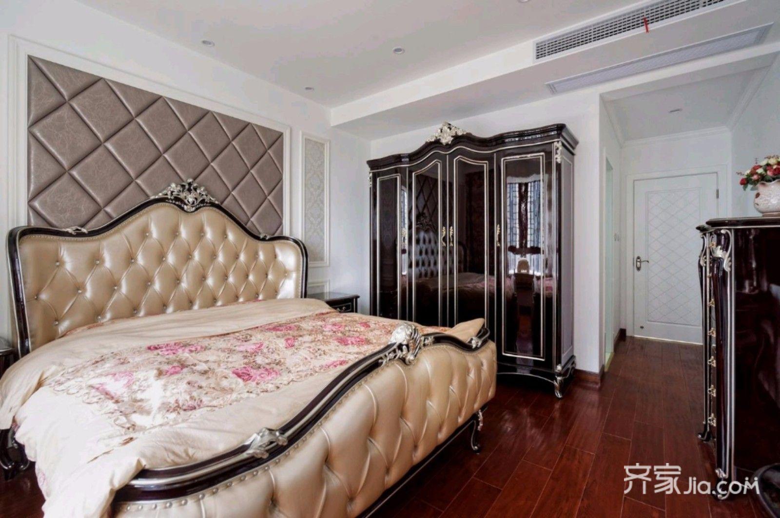 105㎡欧式风格三居卧室装修设计图