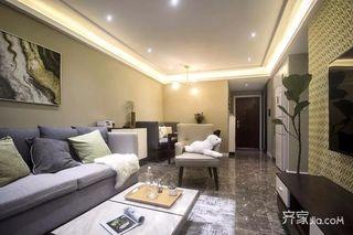 三居室现代简约风格装修设计图