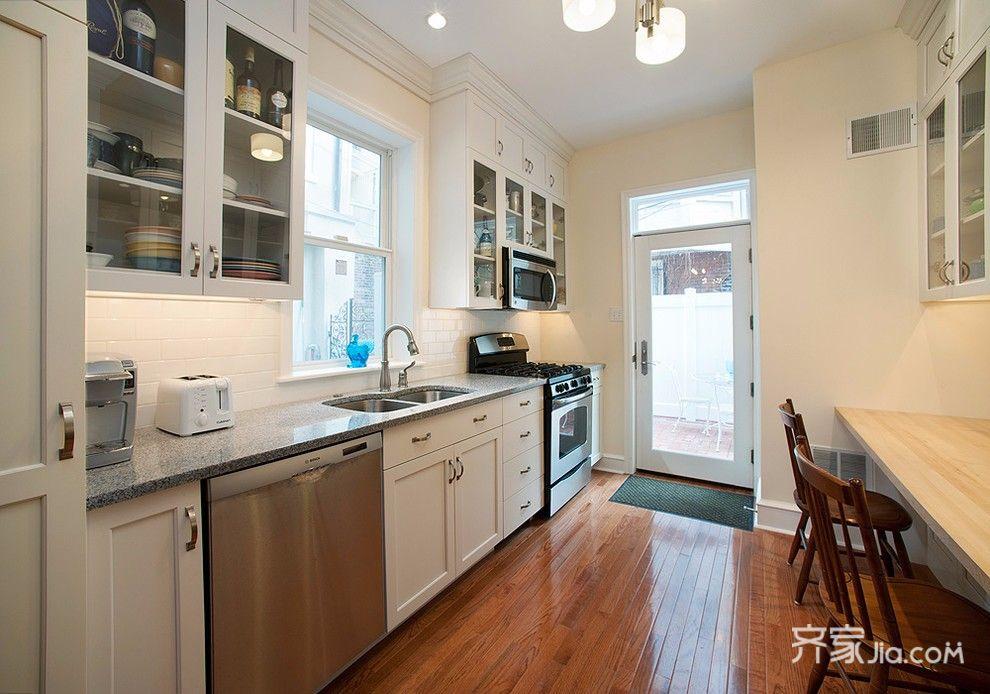 现代中式简约三居厨房装修效果图