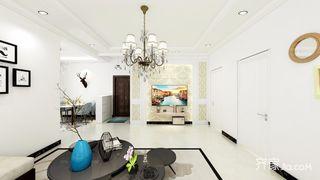 106平米简约二居室客厅装修效果图