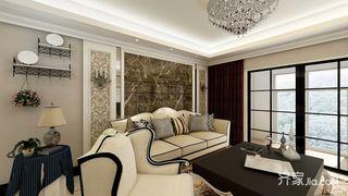 欧式风格二居室装修效果图