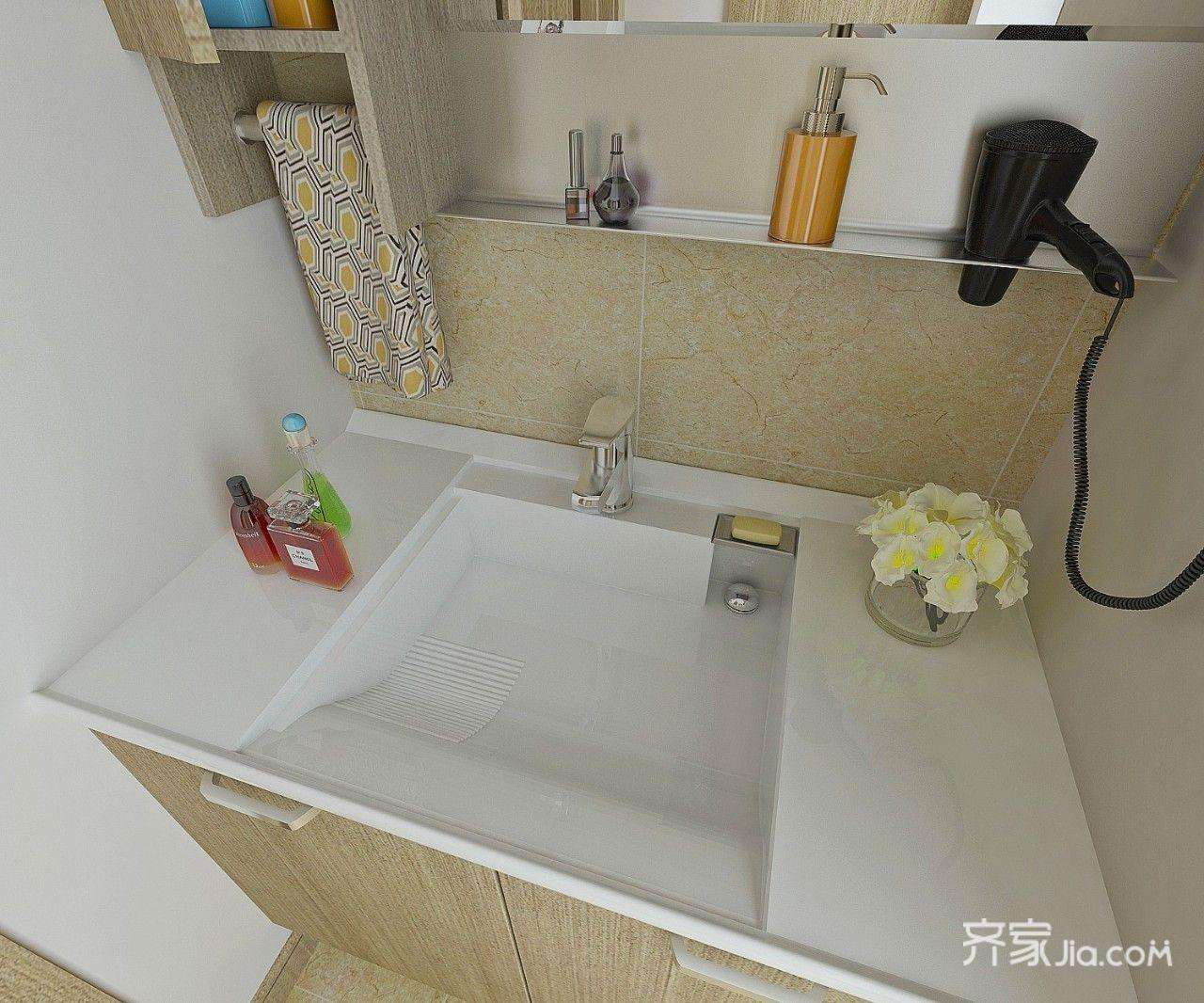 90㎡简约二居室洗手台装修效果图