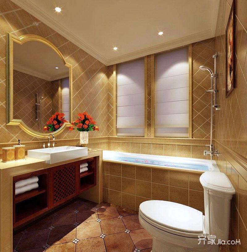 现代欧式三居卫生间装修设计效果图