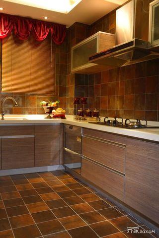 東南亞風格三居室廚房裝修效果圖