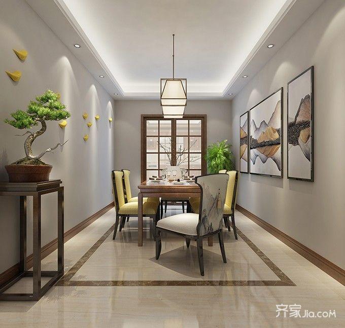 138平米新中式风格餐厅装修效果图