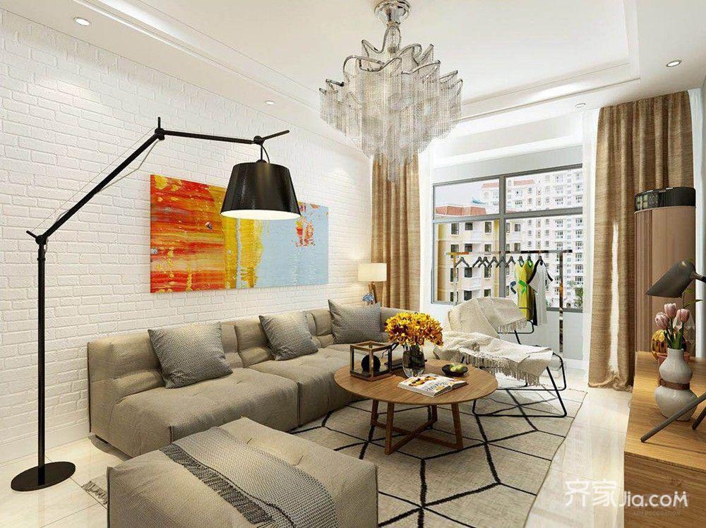 现代简约风两居室客厅装修效果图