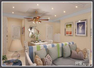 三居室地中海风格餐厅装修效果图