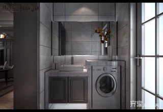 140㎡美式三居室装修浴室柜设计图