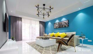 现代三居装修效果图 蓝色幻想