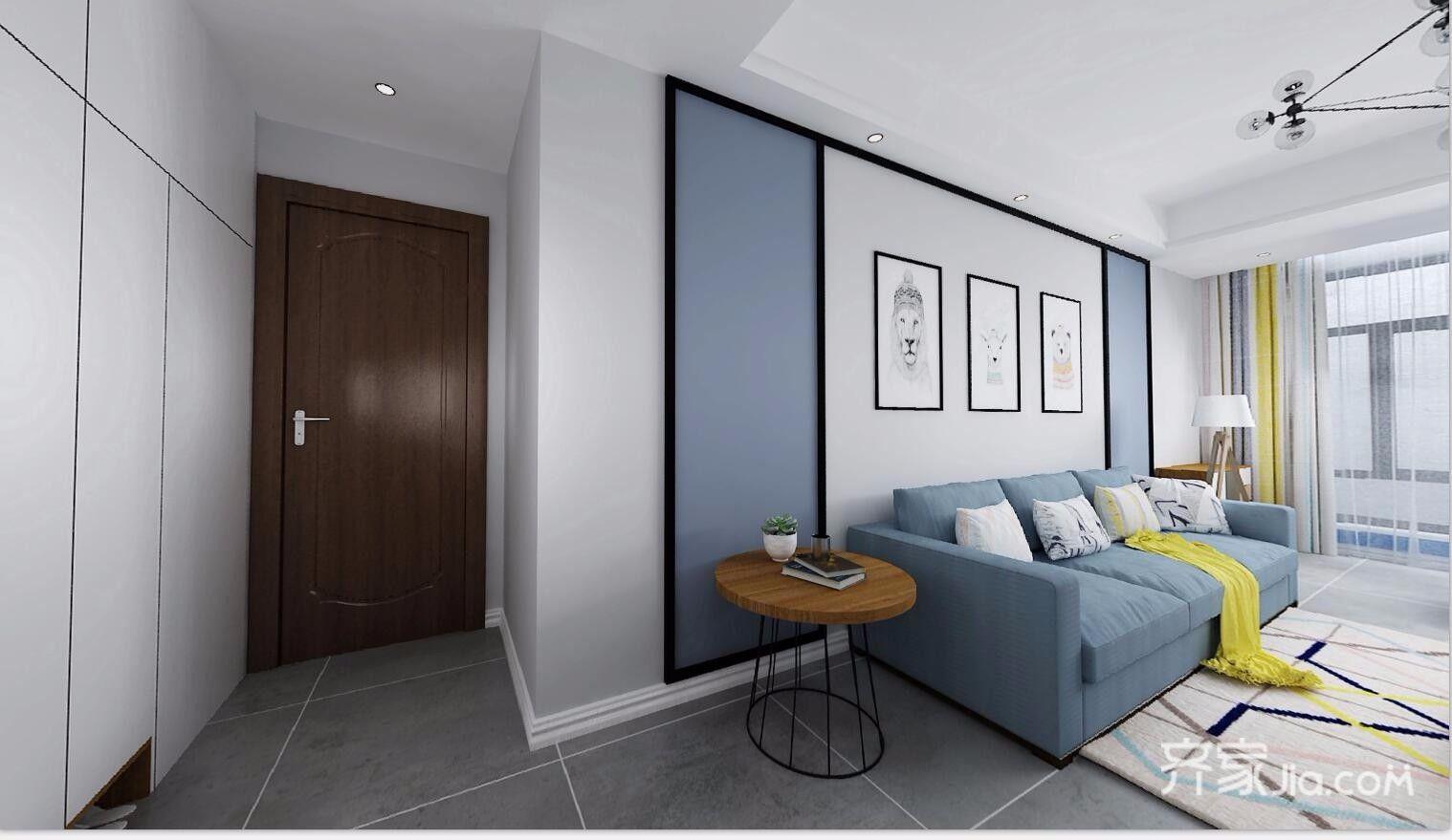 130㎡三居北欧风格装修沙发背景墙效果图