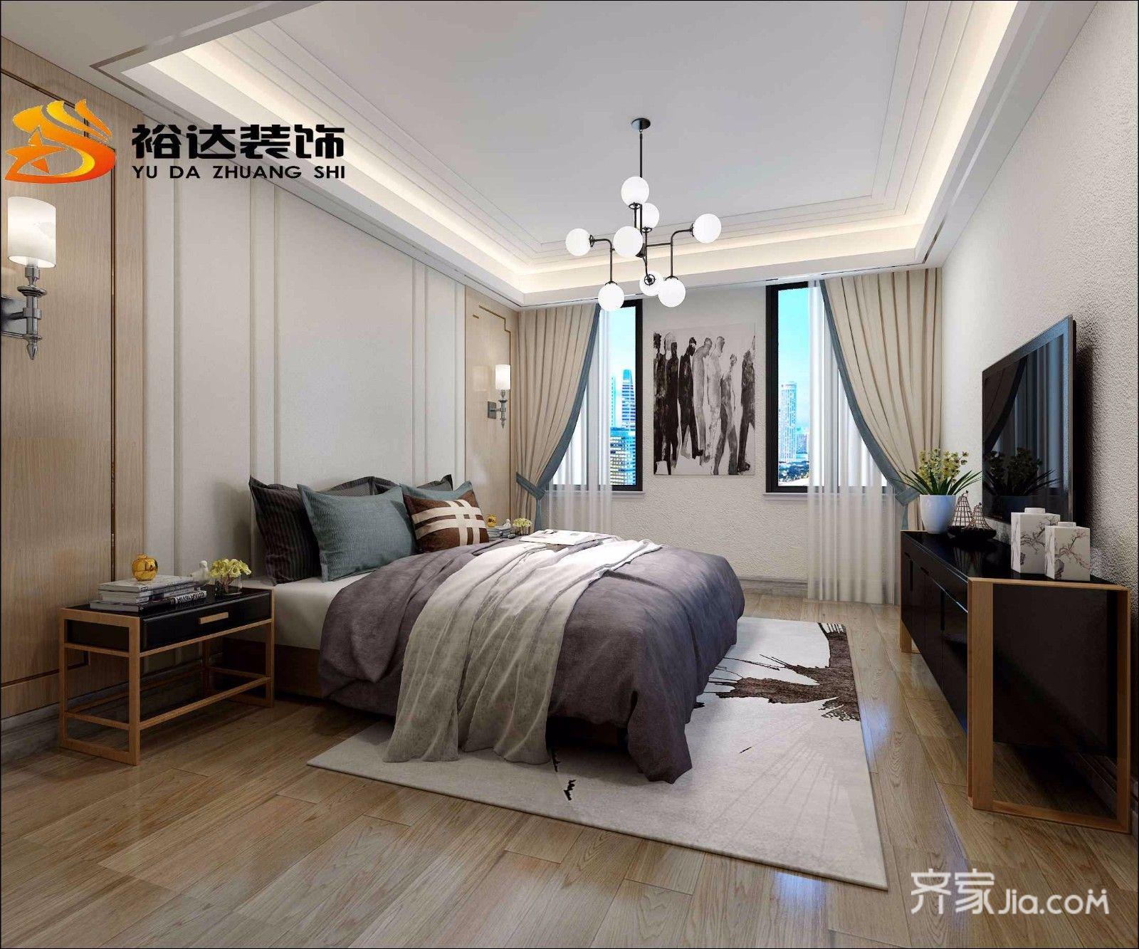 简约风格复式公寓卧室装修效果图