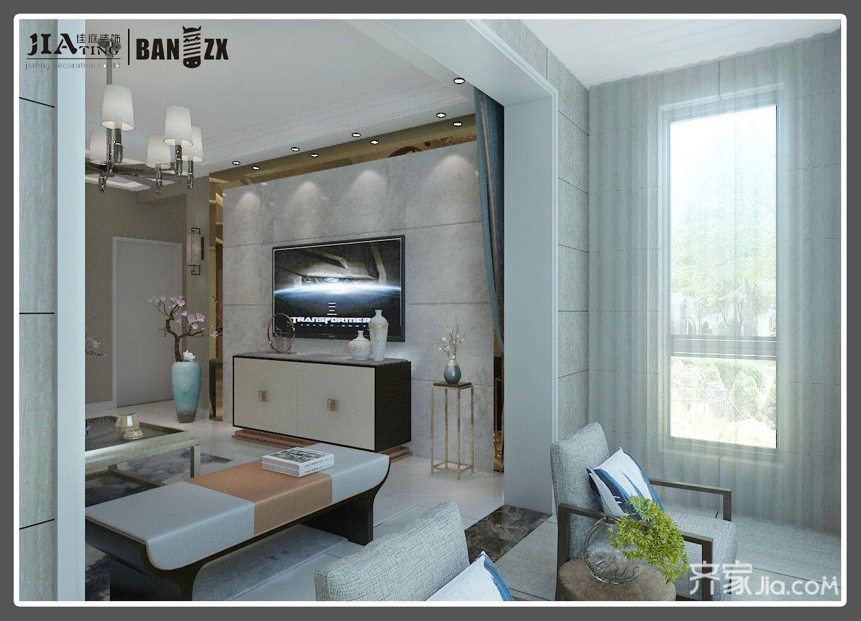 四居室新中式风格阳台装修效果图