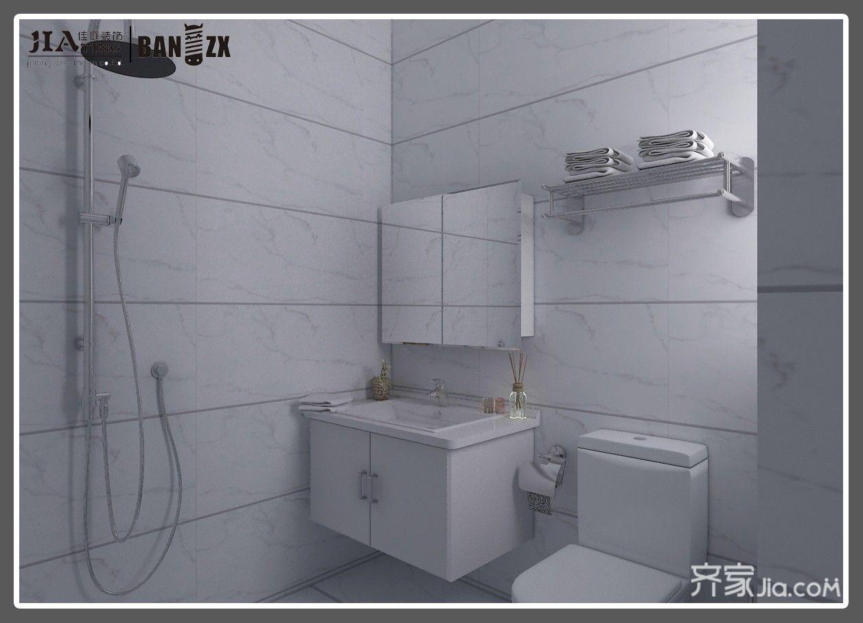 四居室新中式风格卫生间装修效果图