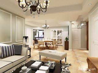 美式風格三居室裝修效果圖