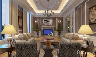 350㎡美式风格别墅客厅装修效果图