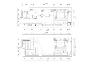 现代简约风格两居装修平面图