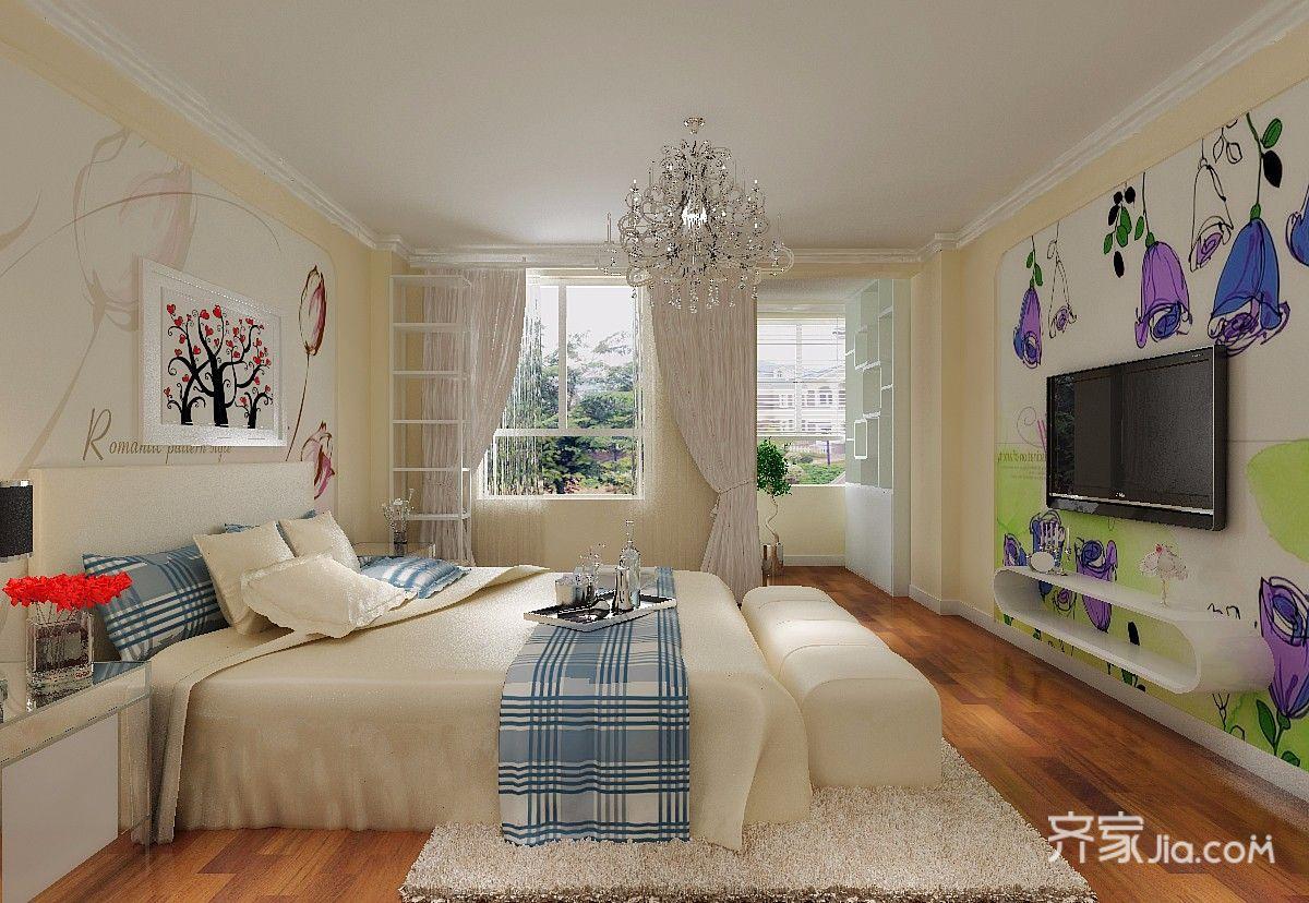 一居室简约风格复式装修卧室效果图