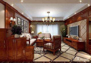 188平美式风格四居客厅装修效果图