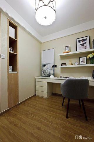 三居室混搭风格装修书房效果图
