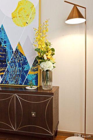 三居室混搭风格装修落地灯设计图