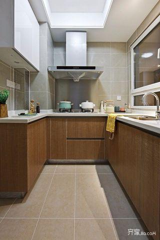 三居室混搭风格装修厨房布局图