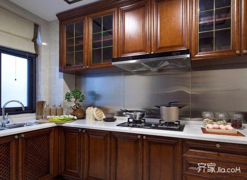 95㎡混搭风格三居装修厨房设计图