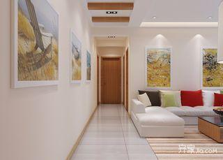 复式现代简约风格装修客厅过道效果图